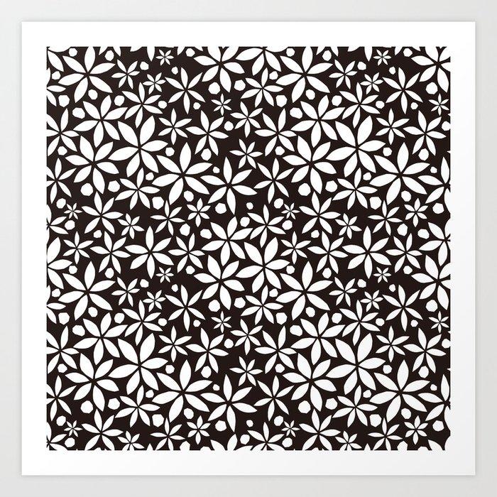 Monochrome paper cut flowers pattern art print by turbo1019 society6 monochrome paper cut flowers pattern art print mightylinksfo Choice Image