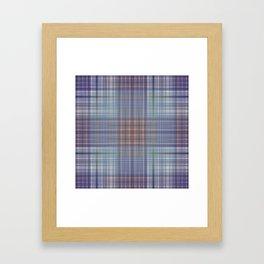 Classic Scottish plaid tartan pattern Framed Art Print