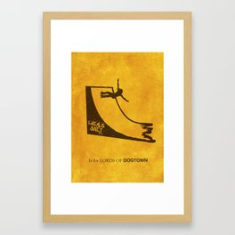 L is for Lords of Dogtown Framed Art Print