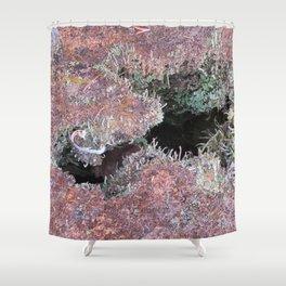 Mousse et lichen Shower Curtain