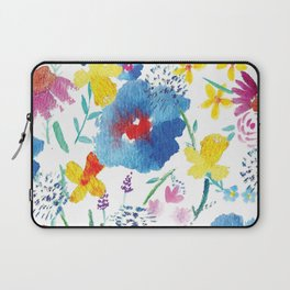 Florals in Watercolor Laptop Sleeve