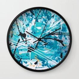 Winter storm Wall Clock