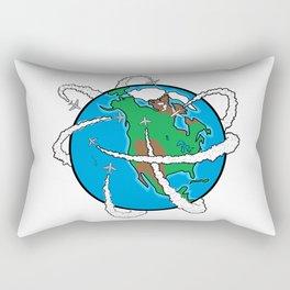 Jets Circling the Globe Rectangular Pillow