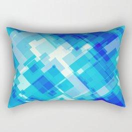 Digital Blue Pool Rectangular Pillow