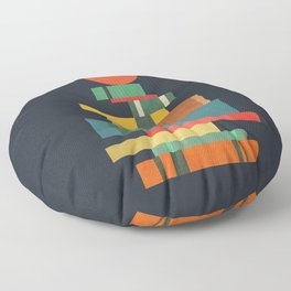 Book stack with a ball Floor Pillow