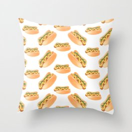 Hot Diggity Dog Throw Pillow