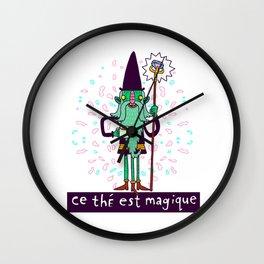 Magic Tea Wizard Wall Clock