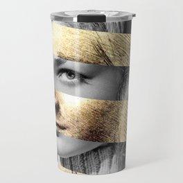 "Leonardo's ""Head of a Woman"" & Lauren Bacall Travel Mug"