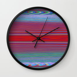 Fractral Trace In Red Wall Clock