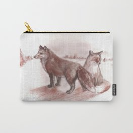 Ural foxes Carry-All Pouch
