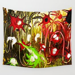 abstraction. fireworks Wall Tapestry