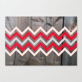 Wood & Chevrons Canvas Print