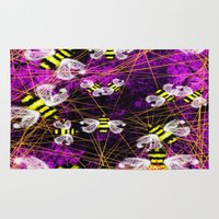 bees Area & Throw Rugs featuring Bees by imrvphoto