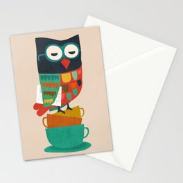 Morning Owl Stationery Cards