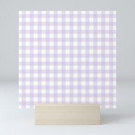 Lilac gingham pattern Mini Art Print