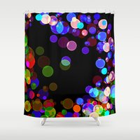 bubbles Shower Curtains featuring Bubbles by haroulita