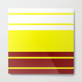TEAM COLORS 9.....Maroon and gold Metal Print