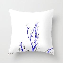 TWILIGHT WINTER TREE BRANCHES Throw Pillow