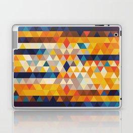 Geometric Triangle - Ethnic Inspired Pattern - Orange, Blue Laptop & iPad Skin