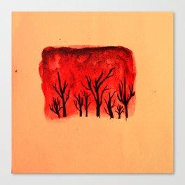 Warm forest Canvas Print