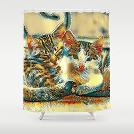 AnimalArt_Cat_20170912_by_JAMColorsSpecial Shower Curtain