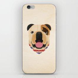 American Bulldog Dog Portrait iPhone Skin