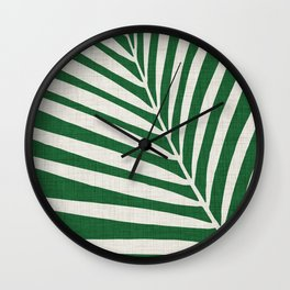 Minimalist Palm Leaf Wall Clock