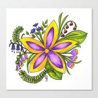 cassandra jean Canvas Prints featuring Cassandra by Phoebe Jayne