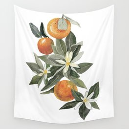 oranges and flowers Wall Tapestry
