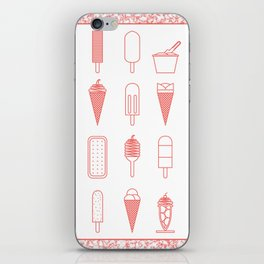 Ice creams (alternate version) iPhone Skin