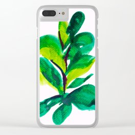 PLANT NO.009 Clear iPhone Case
