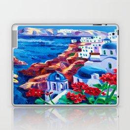 Santorini churches Laptop & iPad Skin