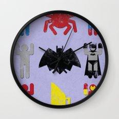 Super Heroic Minimalism Remix Wall Clock