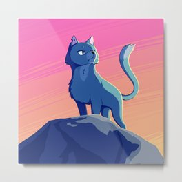 A Blue Leader Metal Print