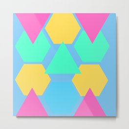 Geometric Shapes Metal Print