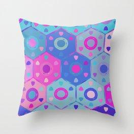 Modern Hexagon Pattern  Throw Pillow