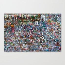 Gum Wall Canvas Print
