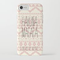 hakuna iPhone & iPod Cases featuring Hakuna Matata by dani