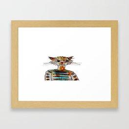Catty Framed Art Print