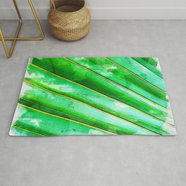 Green Tree Leaves Close Up - For Plant Lovers Rug