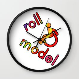 Roll Model! Disability  Wall Clock