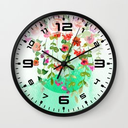 Hanging Roses Wall Clock