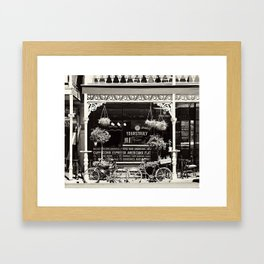Old Coffee shop Framed Art Print