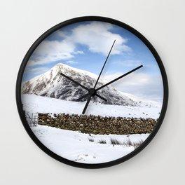 A Winter Wonderland Wall Clock