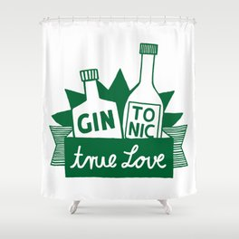 Gin Tonic True Love Shower Curtain