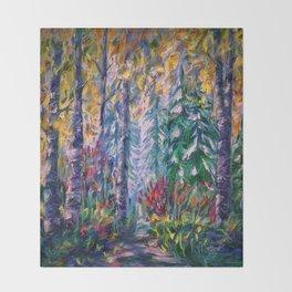 Deep in the Woods Throw Blanket