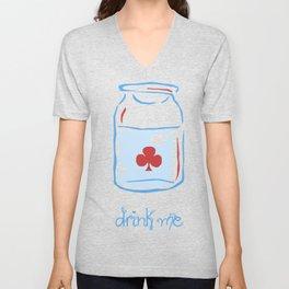 drink me Unisex V-Neck