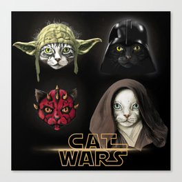 Cat wars 4 Two Canvas Print
