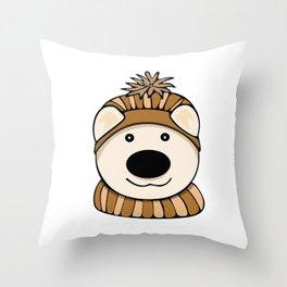 Polly Bear Throw Pillow
