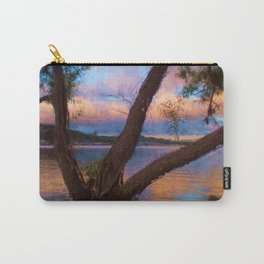 Ozark Sunrise Digital Watercolor Pastels Painting Carry-All Pouch